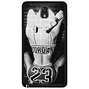 Black and White Hard Snap on Phone Case of Miley Cyrus Twerking (Note 3 III)