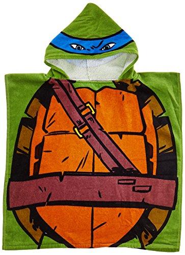 Nickelodeon Teenage Mutant Ninja Turtles Leonardo Hooded Bath Towel Poncho