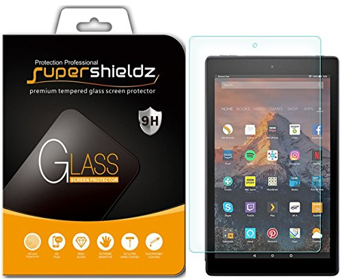 Supershieldz for All-New Fire HD 10 Tablet 10.1 Tempered Glass Screen Protector, (7th Generation - 2017 release) Anti-Scratch, Bubble Free, Lifetime Replacement Warranty