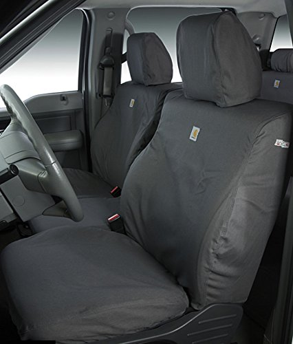 Covercraft Carhartt SeatSaver Front Row Custom Fit Seat Cover for Select Toyota Tacoma Models - Duck Weave ()