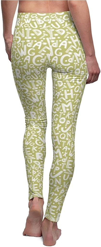 Nordix Limited Scandinavian Style Seamless with Letters Olive Green Yoga Pants Womens Cut /& Sew Casual Leggings
