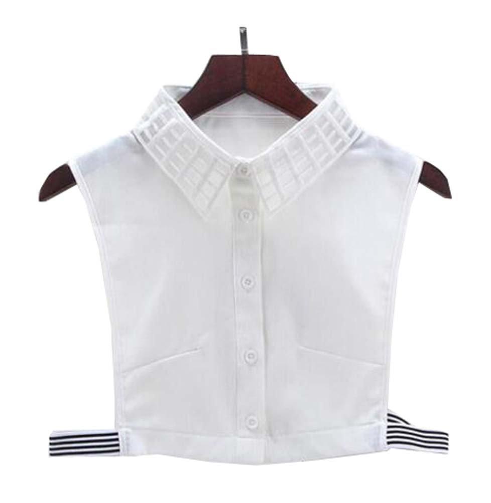 Black Temptation Cuello Falso Falso del Cuello de Las Camisas de la Blusa del Collar Falso Collar Falso para Las Mujeres, B