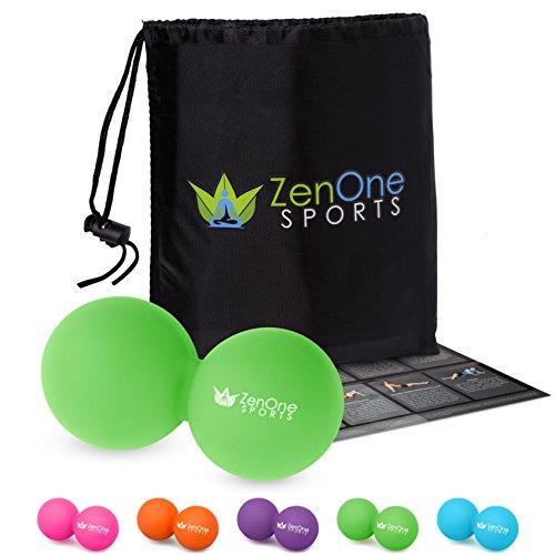 ZenBall Duo Massage-Ball mit GRATIS E-BOOK | Extra: Tasche & Einstiegsguide | Faszien-Ball
