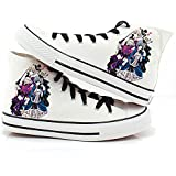 Black Butler Kuroshitsuji Anime Ciel and Sebastian Cosplay Shoes Canvas Shoes Sneakers 4