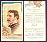 1887 Allen & Ginter N1 American Editors (Non-Sports) Card# 6 Jas. Gordon Bennett VG Condition