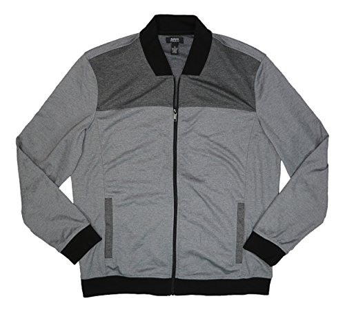Alfani Mens Full-Zip Colorblocked Jacket Gray XL Alfani Jacket