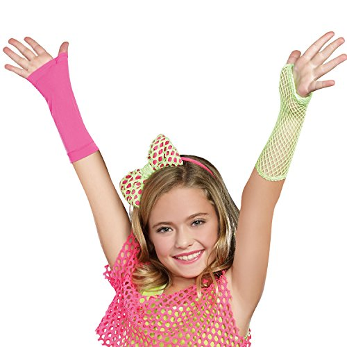 SugarSugar Mixin' It Up 3-in-1 Arm Warmers, Lime-Hot Pink, One Size