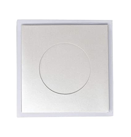 Pack Of 5 White Shimmer Round Aperture A6 Cards