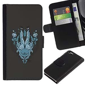 EJOY---La carpeta del tirón la caja de cuero de alta calidad de la PU Caso protector / Apple Iphone 6 / --Resumen de la cara