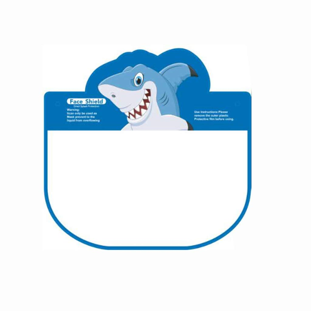 USA in Stock Fast Delivery 10 PCS Kids Child Face Shields Protector Reusable Full Face Covering Lightweight Transparent Bandana Dustproof Adjustable Elastic Band Face Protection Blue,10Pcs