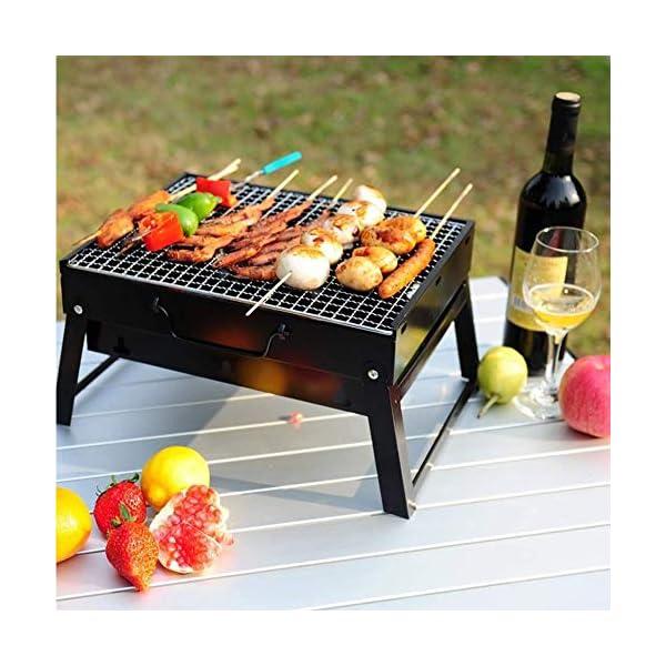 JNT- portatile pieghevole in acciaio inox Outdoor picnic Griglia for barbecue termoresistente anti corrosione Charcoal… 2 spesavip
