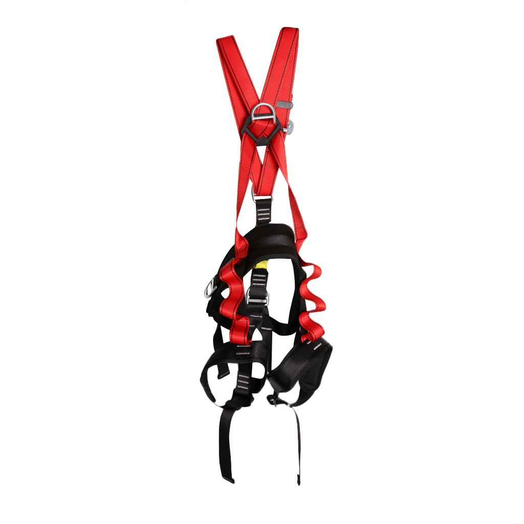 monkeyjack大人用安全フルボディRockクライミングハーネスFall Arrest Fire Rescue Descender Rappelウエスト保護ケービング登山用   B06XRFQ6BM