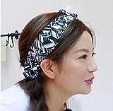 Generic Restaurant Zhao Wei same paragraph Korean version of the hair band hair bands headband headdress geometric women girls lady Korean elastic stretch hair accessories