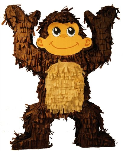 Aztec Imports Monkey Pinata, 20'' Jungle - Zoo Party Game, Centerpiece Decoration and Photo Prop
