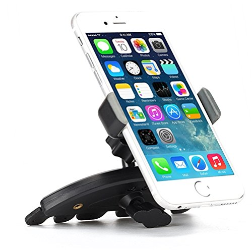 Premium Car Mount CD Player Slot Holder Cradle Stand Swivel Dock for iPod Touch 5 4th Gen 3rd Gen 2nd Gen 1st Gen, iPhone X SE 8 Plus 7 Plus 6S Plus 6 Plus 5S 5C 5 - Google Pixel XL 2 XL
