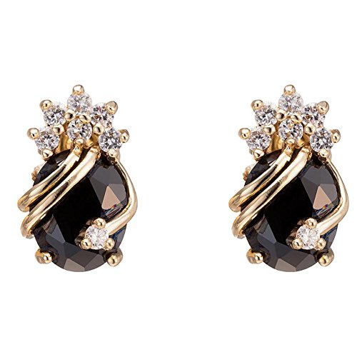 YAZILIND Elegant 18K Gold Plated Cubic Zirconia Multicolor Stud Earrings for (Elegant Fashion Jewelry)