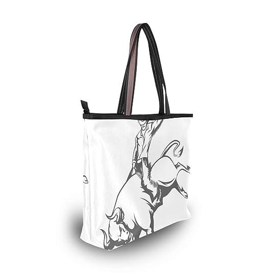 Amazon Com Stylish Bull Cowboy Womens Tote Bag Ptno1 Shoulder Bag