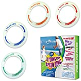 Best Glow In The Dark Frisbees - Cool Frisbees for Kids Toys Bulk [4 Pack Review