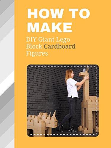 How To DIY Giant Lego Block Cardboard Figures