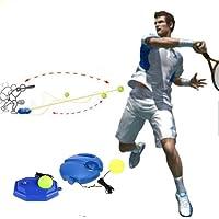 LYPXX Solo Tennis Trainer, Herramienta de Ayuda para El Entrenamiento de Tenis, Base de Potencia de Rebote de Tenis para Autoservicio, Herramientas de Entrenamiento de Práctica de Pelota