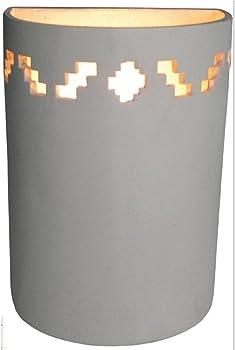 Bel Air Lighting 1-Light Tan Ceramic Sconce