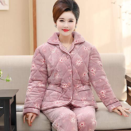 Franela Pajamasx Terciopelo De 58 A Madre Para Xl162 58 E Coral Espesamiento Servicio Domicilio Mujer Invierno Gran Juego Pijamas 65kg Xl162 65kg Tamaño Otoño 168cm 168cm rrFqRnP