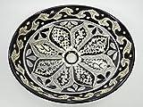17'' TALAVERA SINK, drop in mexican bathroom sink, handmade ceramic, mexico folk art