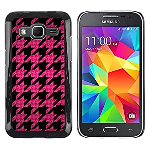 Paccase / SLIM PC / Aliminium Casa Carcasa Funda Case Cover - Leaf Pink Pattern Quilted Fashion - Samsung Galaxy Core Prime SM-G360
