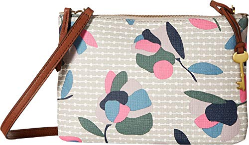Floral Multi Fossil Bag Devon White Crossbody Wczt1Htnw