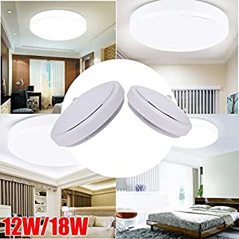 Excellent 24SMD 5730 12W Day White Round PIR LED SMDs Flush Mounted Ceiling Light Sensor Downlight
