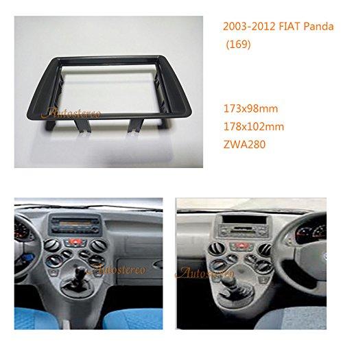 Autostereo Car Radio fascia Facia Panel Adapter for FIAT Panda 169 2003-2012 Car Radio Stereo fascia FIAT Panda 169 Stereo Fascia Dash CD Trim Installation Kit 2 Din 17398mm 178102mm