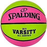 Spalding Varsity Pink/Green Outdoor Basketball 28.5&
