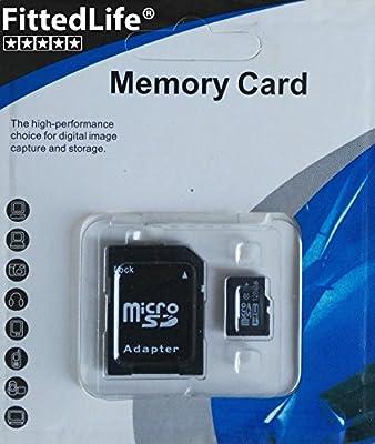 fittedlife® Original 128 GB Clase 10 Velocidad micro sd tarjeta de ...