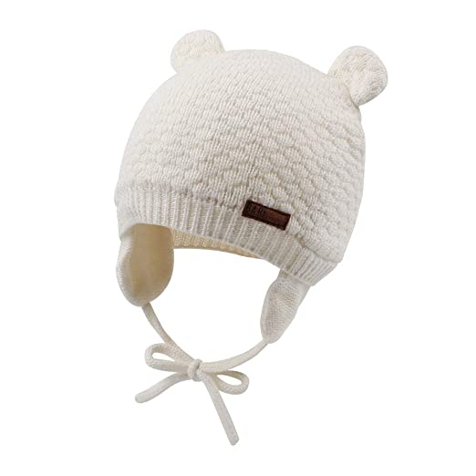 399fe9aed JANGANNSA Cute Knitted Boys Girls Christmas Beanie Warm Earflap Winter Hat  Infant Toddler Baby Beanie 0-2Y