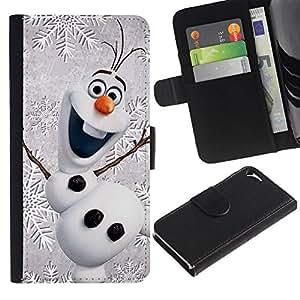 All Phone Most Case / Oferta Especial Cáscara Funda de cuero Monedero Cubierta de proteccion Caso / Wallet Case for Apple Iphone 5 / 5S // Christmas Winter Children'S Happy