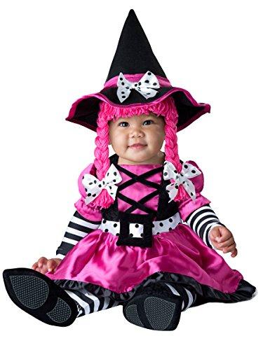 InCharacter Costumes Baby Girls' Wee Witch Costume, Black/Fuchsia, Medium