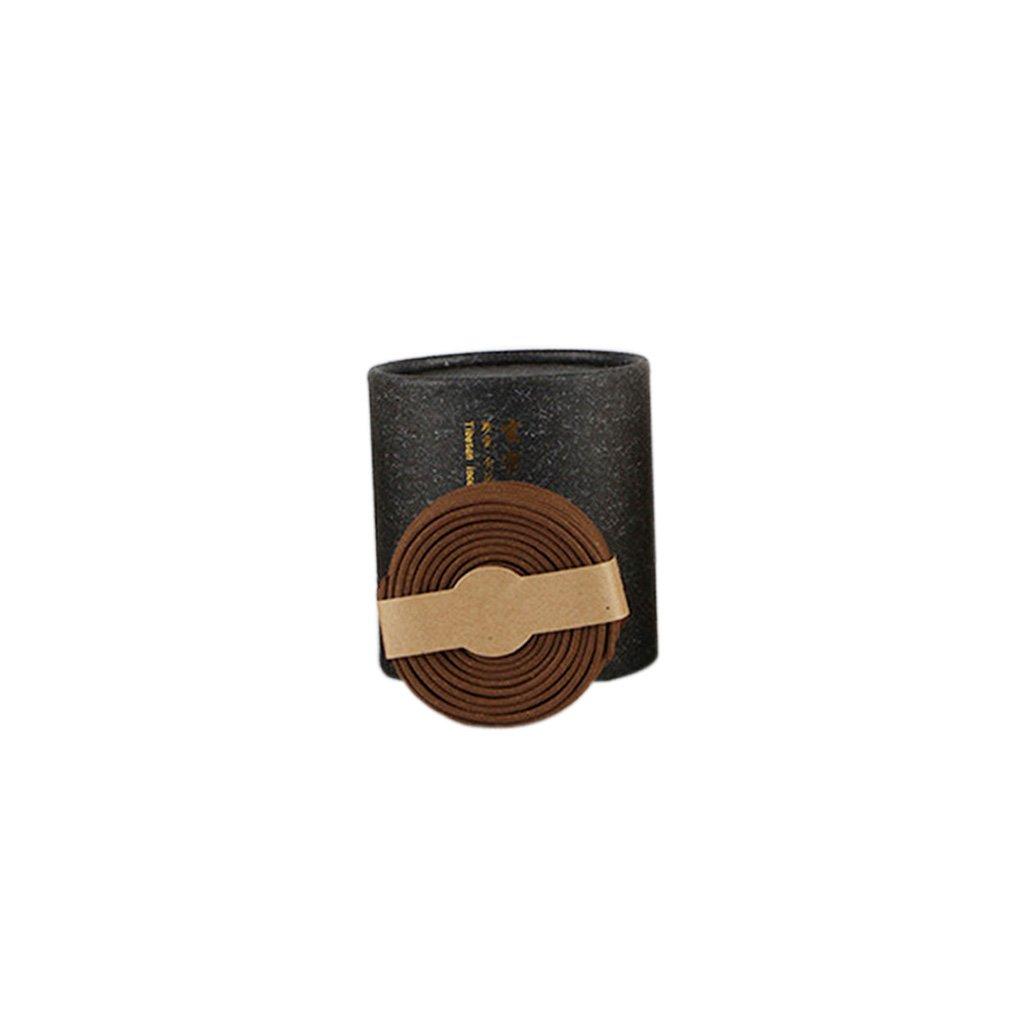 Dolity BOX of 48 Coils Incense Home Hotel Buddhist Senser Burner Incense Tibeten/Sandalwood/Agilawood Coil Incense - Tibetan