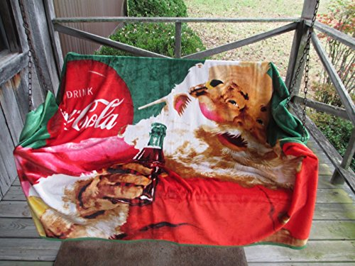 (Forever Collectibles Coca-Cola Ultra Soft Micro Fleece Throw Blanket Santa Season's Greetings 72