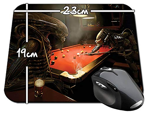 Alien Vs Predator Jugando Billar Playing Pool AVP Alfombrilla ...