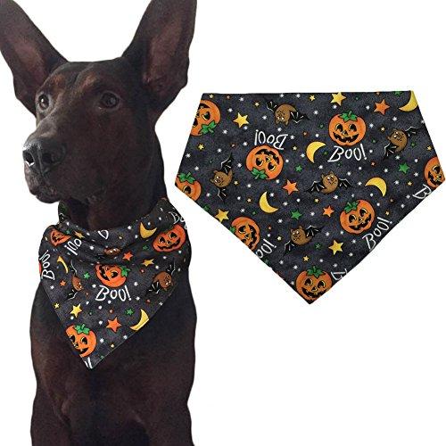 KZHAREEN Halloween Dog Bandana Triangle Bibs Scarf Accessories - Pumpkin Pattern