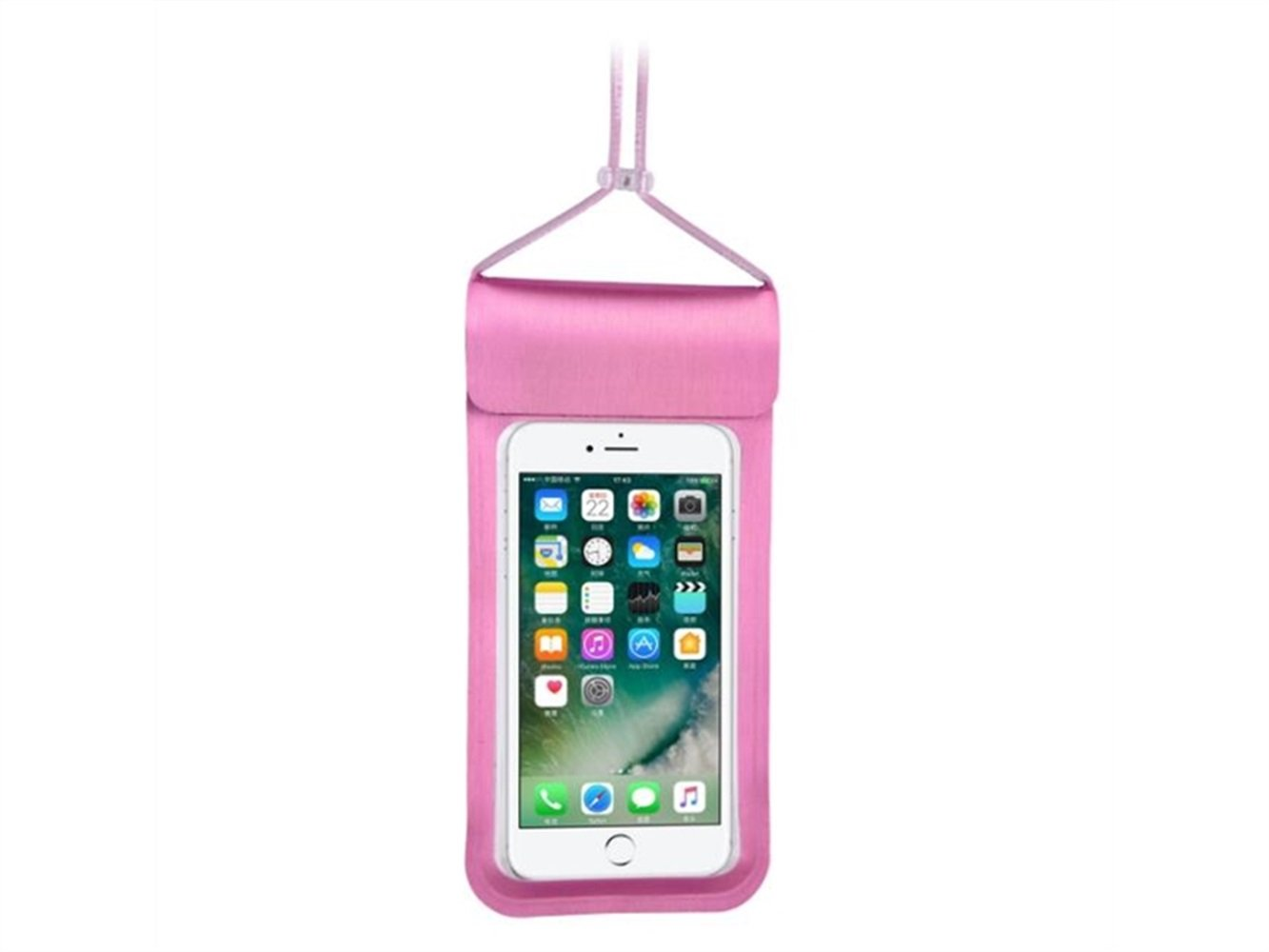 Wesource Good Protecter Portable Lanyard Waterproof Phone Bag Outdoor Beach Mobile Diving Bag for All Smartphones Up To 6.5 Inch(Pink)