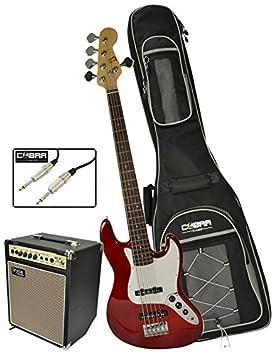 Bajo de 5 cuerdas para guitarra eléctrica con amplificador de 20 W y accesorios por Bryce: Amazon.es: Instrumentos musicales