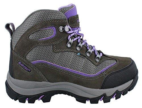Hi-Tec Women's Skamania Mid WP Hiking Boot, Grey/Viola,9 M US