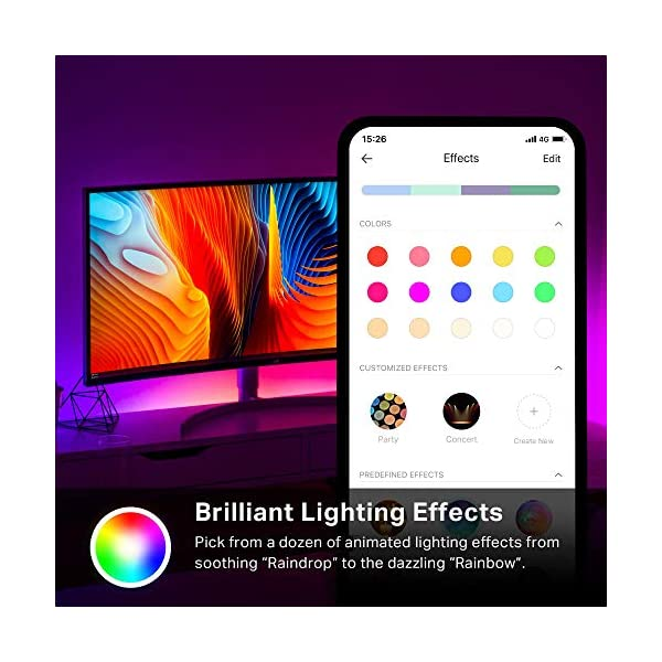 Kasa Smart LED Light Strip KL430, 16 Color Zones RGBIC, 6.6ft Wi-Fi LED Lights Work with Alexa, Google Home &IFTTT, No… 3