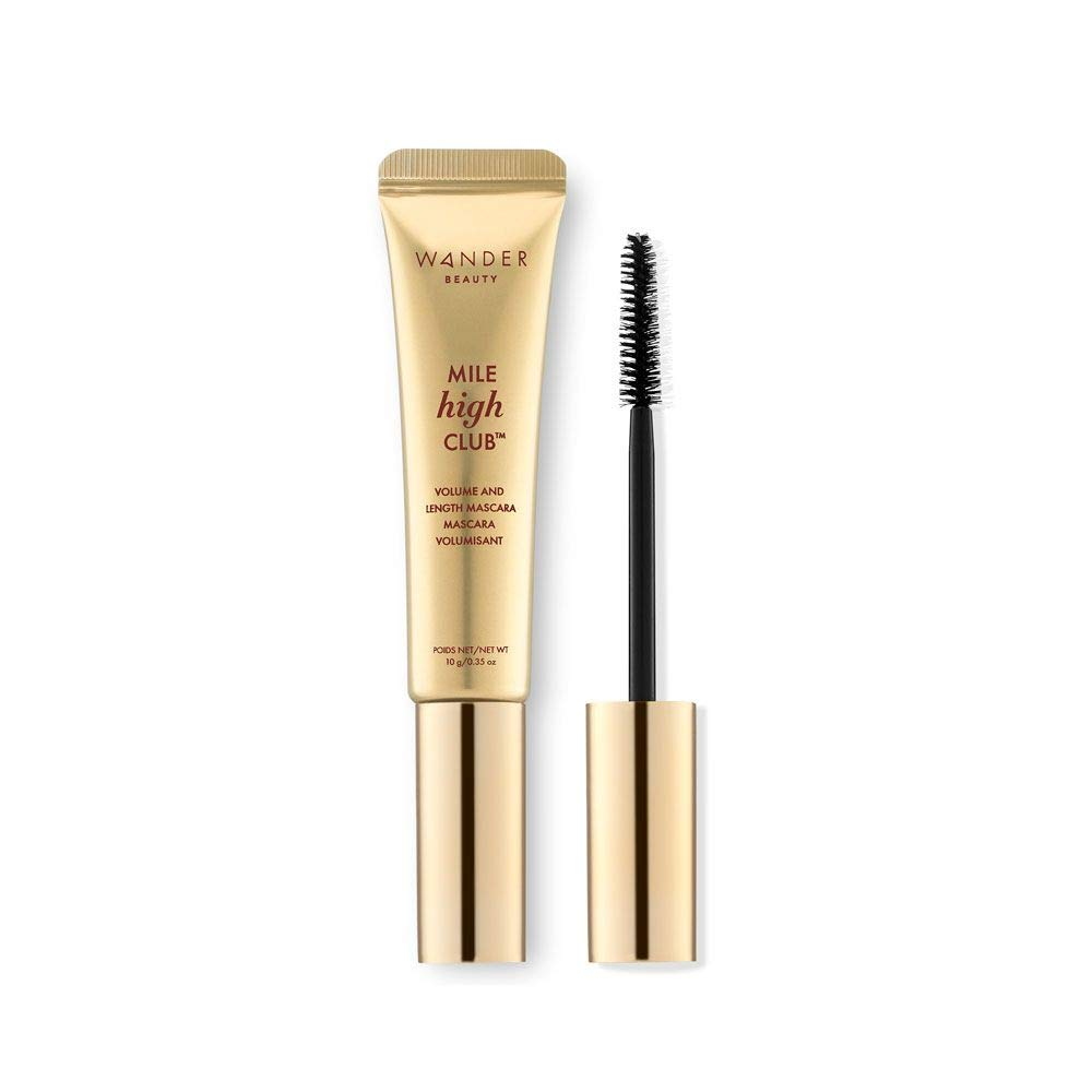 Wander Beauty Mile High Club Volume And Length Mascara! Volumizing and Lengthening Mascara with Precise Bristles! Smudge Proof, Flake Proof, Water Resistant & Long-wearing!