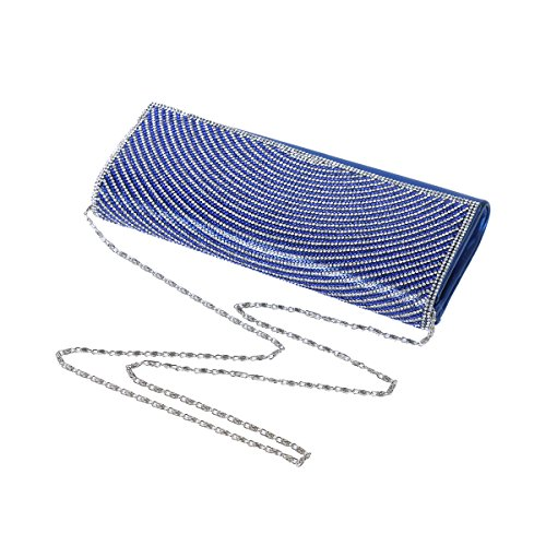 Rhinestone Bag Evening Spread Womens Flap Silver Damara Circular fqUpxw8