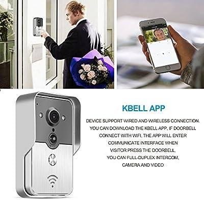Video Doorbell Sunsbell Wireless Wifi Video Doorbell 2-Way Audio Doorbell Camera with Smart Motion Detetion, Infrared Night Vision