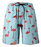 HONG DI HAO Mens Swim Trunks Quick Dry Swimming Trucks for Men Big and Tall Beach Shorts with Mesh Lining