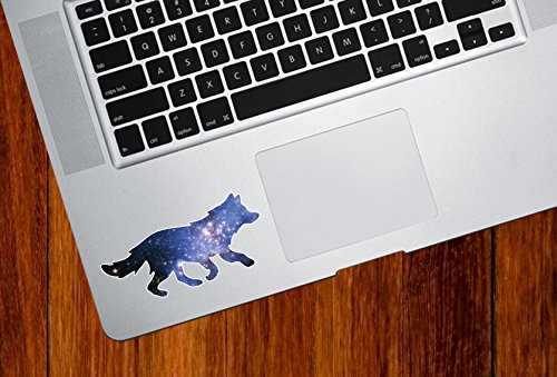 Cosmic Wolf - Spirit Animal - Galaxy Guide - Trackpad | Tablet | iPad - Vinyl Decal Sticker Copyright 2015 Yadda-Yadda Design Co. (3.5