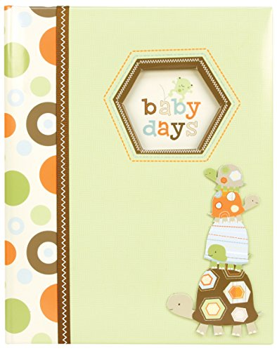 (C.R. Gibson Green and Brown Turtle 'Baby Days' Baby Memory Book for Newborns, 60 pgs, 9'' W x 11.125'' H)